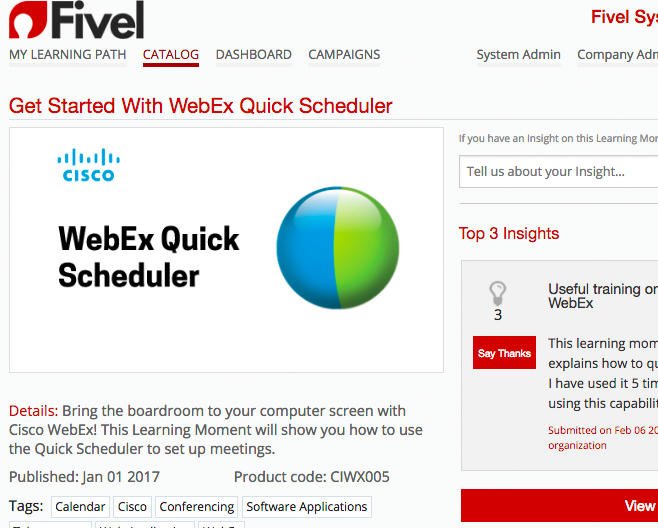 Fivel – Get Started with Webex